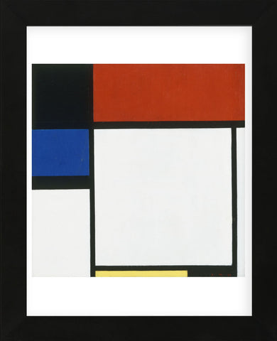 Composition No. III / Fox Trot B with Black, Red, Blue and Yellow, 1929 (Framed) -  Piet Mondrian - McGaw Graphics