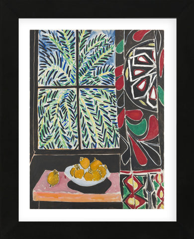 Interior with Egyptian Curtain, 1948 (Framed) -  Henri Matisse - McGaw Graphics