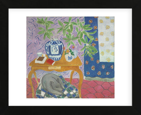 Interior with a Dog, 1934 (Framed) -  Henri Matisse - McGaw Graphics