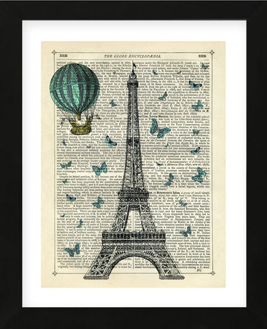 Eiffel Butterflies (Framed) -  Marion McConaghie - McGaw Graphics