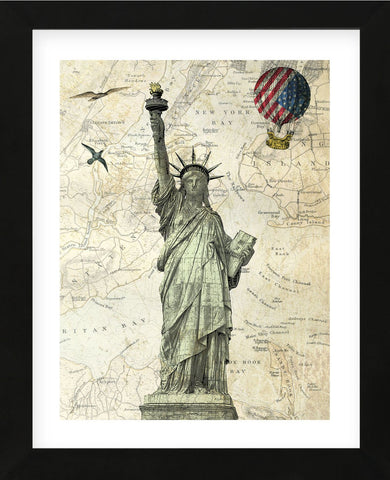 Liberty Balloon (Framed) -  Marion McConaghie - McGaw Graphics