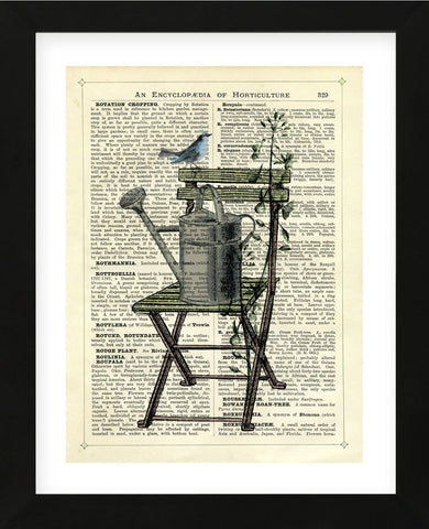Gardener's Chair (Framed) -  Marion McConaghie - McGaw Graphics