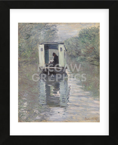The Studio Boat (Le Bateau-atelier), 1876 (Framed) -  Claude Monet - McGaw Graphics