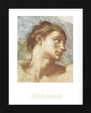 Sistine Chapel - Adam  (Framed) -  Michelangelo - McGaw Graphics