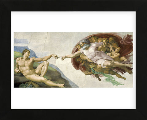 The Creation of Adam  (Framed) -  Michelangelo - McGaw Graphics