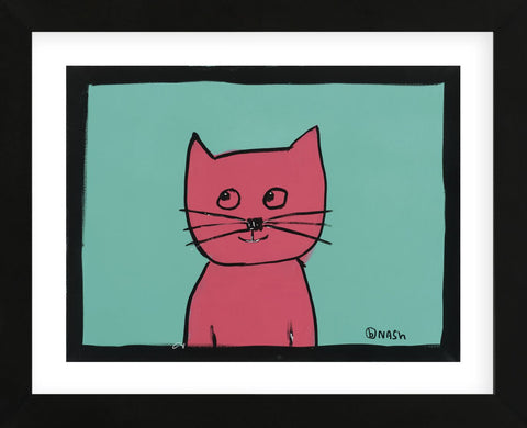 Pink Cat (Framed) -  Brian Nash - McGaw Graphics