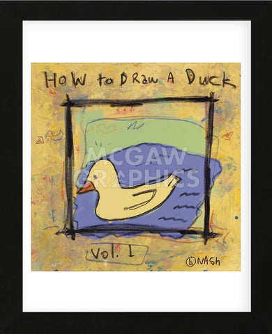 How to Draw a Duck (Framed) -  Brian Nash - McGaw Graphics