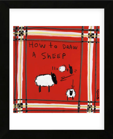 How to Draw a Sheep (Framed) -  Brian Nash - McGaw Graphics