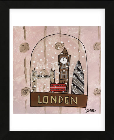 London Snow Globe (Framed) -  Brian Nash - McGaw Graphics