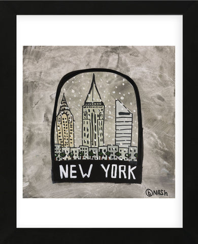 New York Snow Globe (Framed) -  Brian Nash - McGaw Graphics