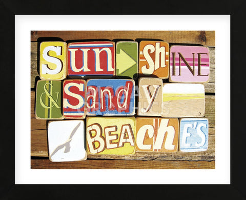 Sunshine And Sandy Beaches (Framed) -  Norfolk Boy - McGaw Graphics