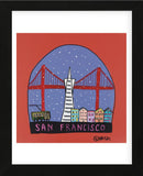 San Francisco Snow Globe (Framed) -  Brian Nash - McGaw Graphics