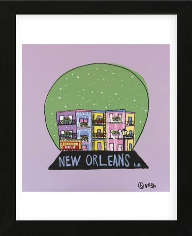 New Orleans Snow Globe (Framed) -  Brian Nash - McGaw Graphics