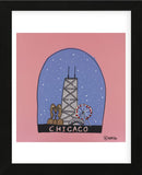 Chicago Snow Globe (Framed) -  Brian Nash - McGaw Graphics