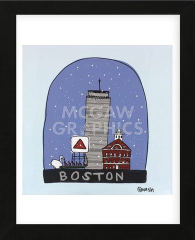 Boston Snow Globe (Framed) -  Brian Nash - McGaw Graphics