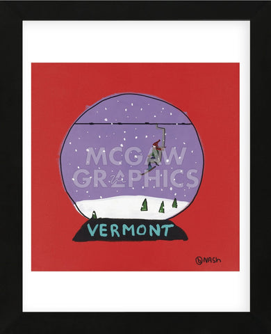 Vermont Snow Globe (Framed) -  Brian Nash - McGaw Graphics