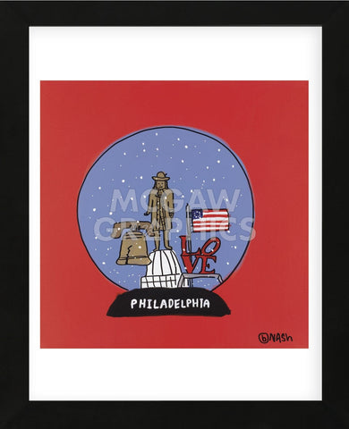 Philadelphia Snow Globe (Framed) -  Brian Nash - McGaw Graphics