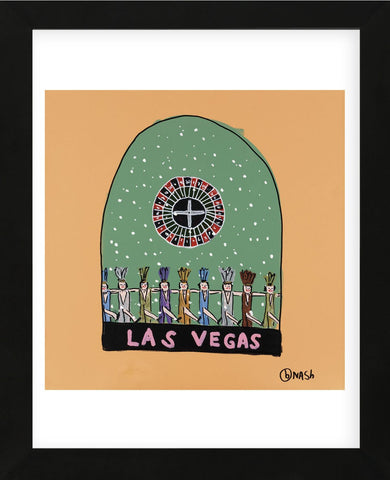 Las Vegas Snow Globe (Framed) -  Brian Nash - McGaw Graphics
