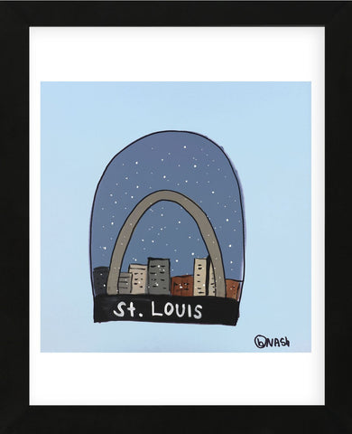 St. Louis Snow Globe (Framed) -  Brian Nash - McGaw Graphics
