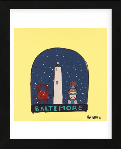 Baltimore Snow Globe (Framed) -  Brian Nash - McGaw Graphics