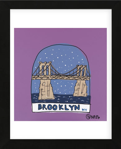 Brooklyn Snow Globe (Framed) -  Brian Nash - McGaw Graphics