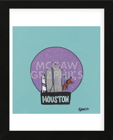 Houston Snow Globe (Framed) -  Brian Nash - McGaw Graphics