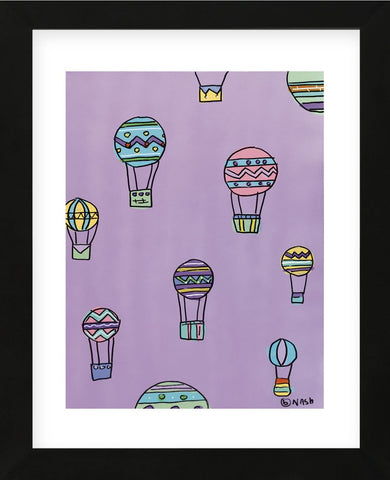 Balloons - Purple (Framed) -  Brian Nash - McGaw Graphics