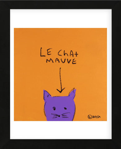 Le Chat Mauve (Framed) -  Brian Nash - McGaw Graphics