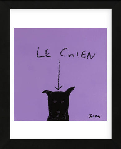 Le Chien (Framed) -  Brian Nash - McGaw Graphics