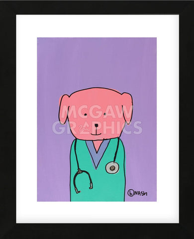 Pink Dog Doc (Framed) -  Brian Nash - McGaw Graphics