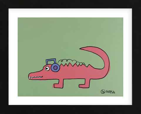 Alligator (Framed) -  Brian Nash - McGaw Graphics