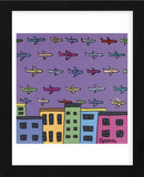 Horizon with Planes (Framed) -  Brian Nash - McGaw Graphics