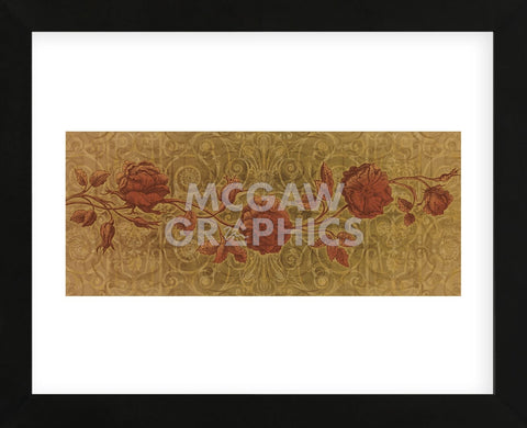 Roses Interlace  (Framed) -  Mali Nave - McGaw Graphics