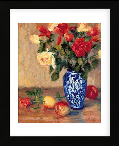 Roses in a Mexican Vase  (Framed) -  Bunny Oliver - McGaw Graphics
