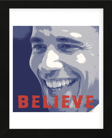 Barack Obama: Believe (Framed) -  Celebrity Photography - McGaw Graphics