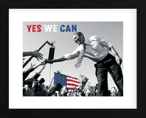 Barack Obama: Yes We Can (crowd) (Framed) -  Celebrity Photography - McGaw Graphics