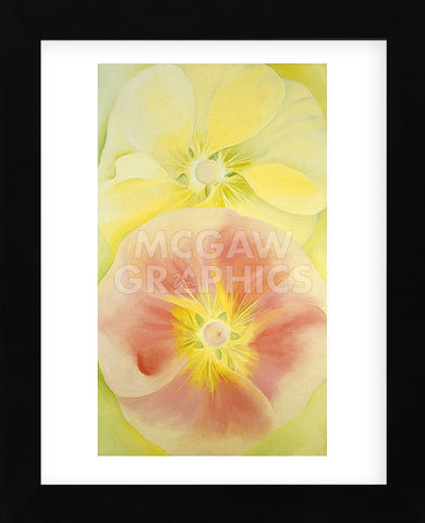 Pink and Yellow Hollyhocks, 1952 (Framed) -  Georgia O'Keeffe - McGaw Graphics