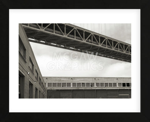 Bay Bridge and Pier #2  (Framed) -  Christian Peacock - McGaw Graphics