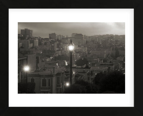 Street Lamp in Russian Hill  (Framed) -  Christian Peacock - McGaw Graphics