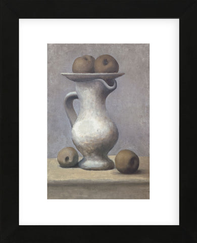 Still Life with Pitcher and Apple  (Framed) -  Pablo Picasso - McGaw Graphics