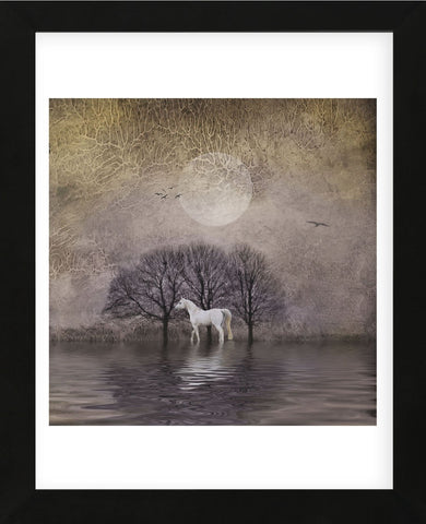 Dawne Polis - White Horse in Pond