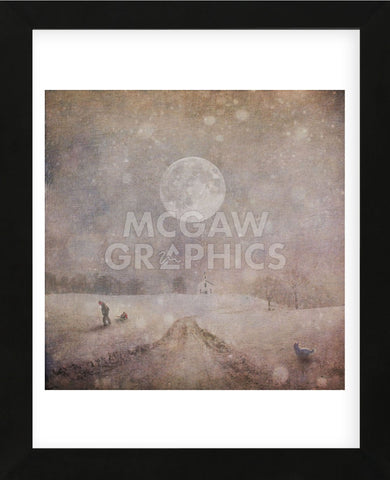 Home From Sledding (Framed) -  Dawne Polis - McGaw Graphics