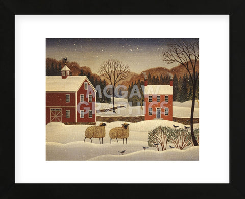 Winter Sheep I (Framed) -  Diane Ulmer Pedersen - McGaw Graphics