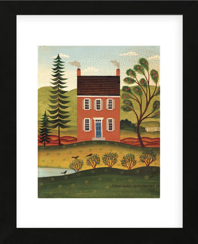 House and Lake (Framed) -  Diane Ulmer Pedersen - McGaw Graphics