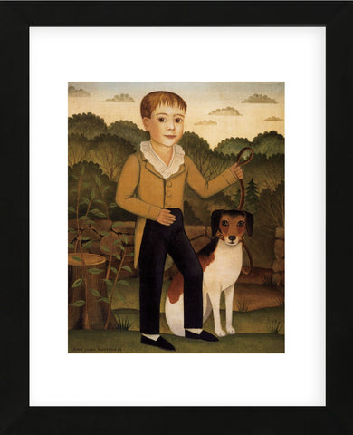 Boy with Dog (Framed) -  Diane Ulmer Pedersen - McGaw Graphics