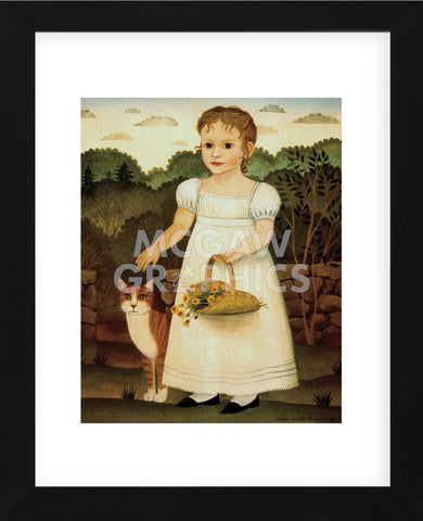 Girl with Cat (Framed) -  Diane Ulmer Pedersen - McGaw Graphics