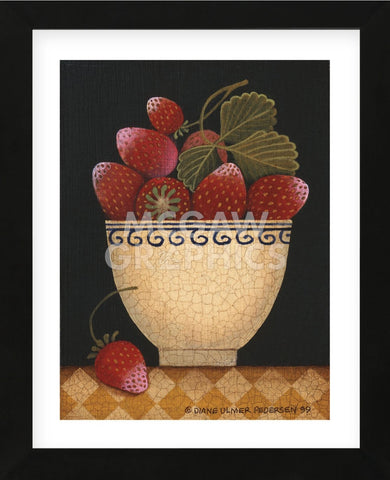 Cup O Strawberries (Framed) -  Diane Ulmer Pedersen - McGaw Graphics