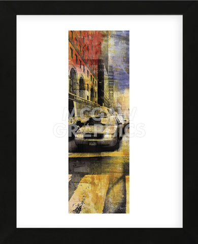 New York Taxi VIII (Framed) -  Sven Pfrommer - McGaw Graphics