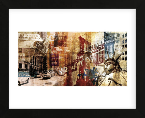 NY Wall Street (Framed) -  Sven Pfrommer - McGaw Graphics