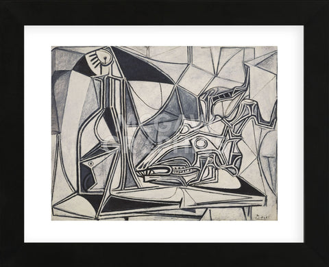 Goat's Skull, Bottle and Candle, 1952 (Framed) -  Pablo Picasso - McGaw Graphics
